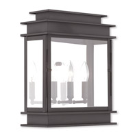 Livex 20204-07 Princeton 3 Light 15 inch Bronze Outdoor Wall Lantern