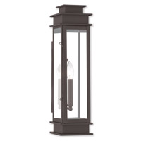Livex 20207-07 Princeton 1 Light 20 inch Bronze Outdoor Wall Lantern