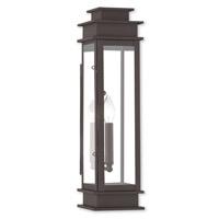 Livex 20207-07 Princeton 1 Light 20 inch Bronze Outdoor Wall Lantern