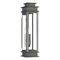 Livex 20207-29 Princeton 1 Light 20 inch Vintage Pewter Outdoor Wall Lantern
