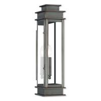Livex 20207-29 Princeton 1 Light 20 inch Vintage Pewter Outdoor Wall Lantern