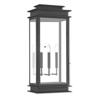 Princeton 3 Light 29 inch Black Outdoor Wall Lantern