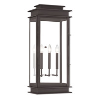 Livex 20208-07 Princeton 3 Light 29 inch Bronze Outdoor Wall Lantern
