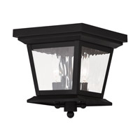 Livex Hathaway 2 Light Outdoor Ceiling Mount in Black 20230-04