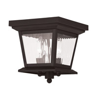 Livex Hathaway 2 Light Outdoor Ceiling Mount in Bronze 20230-07