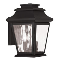 Livex Hathaway 2 Light Outdoor Wall Lantern in Black 20232-04