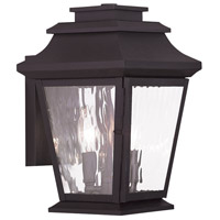 Livex Hathaway 2 Light Outdoor Wall Lantern in Bronze 20232-07