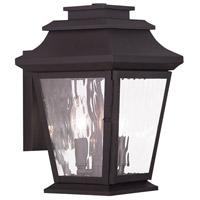 Livex 20232-07 Hathaway 2 Light 13 inch Bronze Outdoor Wall Lantern