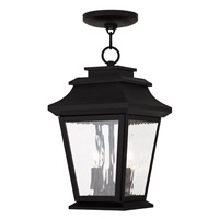 Livex Hathaway 2 Light Outdoor Chain Hang Lantern  in Black 20233-04