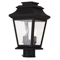 Livex Hathaway 2 Light Outdoor Post Light in Black 20234-04