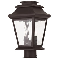Livex Hathaway 2 Light Outdoor Post Light in Bronze 20234-07