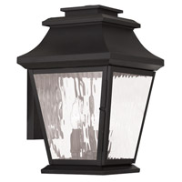 Livex Hathaway 3 Light Outdoor Wall Lantern in Black 20235-04