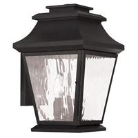 Livex Hathaway 3 Light Outdoor Wall Lantern in Black 20235-04