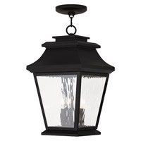 Livex Hathaway 3 Light Outdoor Chain Hang Lantern  in Black 20237-04