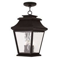 Livex Hathaway 3 Light Outdoor Chain Hang Lantern  in Bronze 20237-07