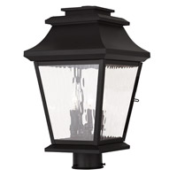 Livex Hathaway 3 Light Outdoor Post Light in Black 20238-04