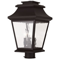 Livex Hathaway 3 Light Outdoor Post Light in Bronze 20238-07