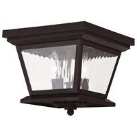 Livex 20239-07 Hathaway 3 Light 10 inch Bronze Outdoor Ceiling Mount
