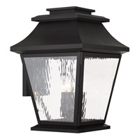 Livex Hathaway 4 Light Outdoor Wall Lantern in Black 20240-04
