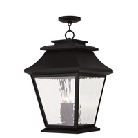 Livex Hathaway 4 Light Outdoor Chain Hang Lantern  in Black 20243-04