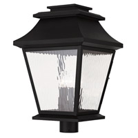 Livex Hathaway 4 Light Outdoor Post Light in Black 20244-04