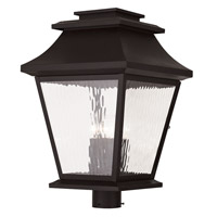 Livex Hathaway 4 Light Outdoor Post Light in Bronze 20244-07