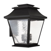 Livex Hathaway 5 Light Outdoor Wall Lantern in Black 20245-04
