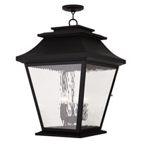 Livex Hathaway 5 Light Outdoor Chain Hang Lantern  in Black 20247-04