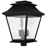Livex Hathaway 5 Light Outdoor Post Light in Black 20248-04