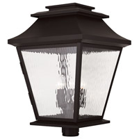 Livex 20248-07 Hathaway 5 Light 27 inch Bronze Outdoor Post Light