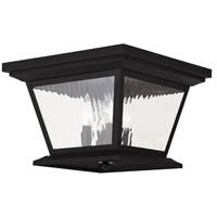 Livex Hathaway 4 Light Outdoor Ceiling Mount in Black 20249-04