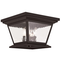 Hathaway 4 Light 13 inch Bronze Outdoor Ceiling Mount
