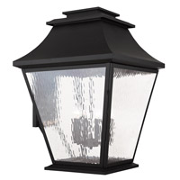 Livex Hathaway 6 Light Outdoor Wall Lantern in Black 20251-04