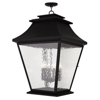 Livex Hathaway 6 Light Outdoor Chain Hang Lantern  in Black 20253-04