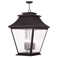 Livex Hathaway 6 Light Outdoor Chain Hang Lantern  in Bronze 20253-07