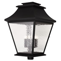 Livex Hathaway 6 Light Outdoor Post Light in Black 20254-04