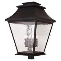 Livex 20254-07 Hathaway 6 Light 32 inch Bronze Outdoor Post Light