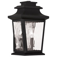 Livex Hathaway 2 Light Outdoor Wall Lantern in Black 20256-04