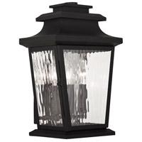 Livex Hathaway 3 Light Outdoor Wall Lantern in Black 20257-04