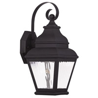Livex Exeter 1 Light Outdoor Wall Lantern in Black 20261-04