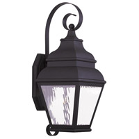 Livex Exeter 1 Light Outdoor Wall Lantern in Black 20262-04