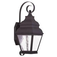Livex Exeter 1 Light Outdoor Wall Lantern in Bronze 20262-07
