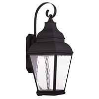 Livex Exeter 1 Light Outdoor Wall Lantern in Black 20265-04