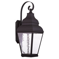 Livex Exeter 1 Light Outdoor Wall Lantern in Bronze 20265-07