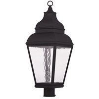 Livex Exeter 1 Light LED Outdoor Post Light in Black 20266-04