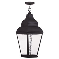 Livex Exeter 1 Light LED Outdoor Chain Hang Lantern  in Black 20267-04