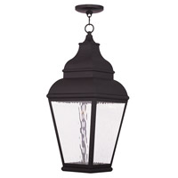 Livex Exeter 1 Light Outdoor Chain Hang Lantern  in Bronze 20267-07