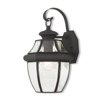Livex 20282-04 Monterey 1 Light 13 inch Black Outdoor Wall Lantern