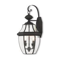 Livex 20284-04 Monterey 2 Light 20 inch Black Outdoor Wall Lantern