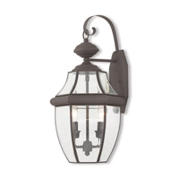 Livex 20284-07 Monterey 2 Light 20 inch Bronze Outdoor Wall Lantern